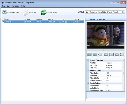 Click to view Auvisoft Video Converter screenshots
